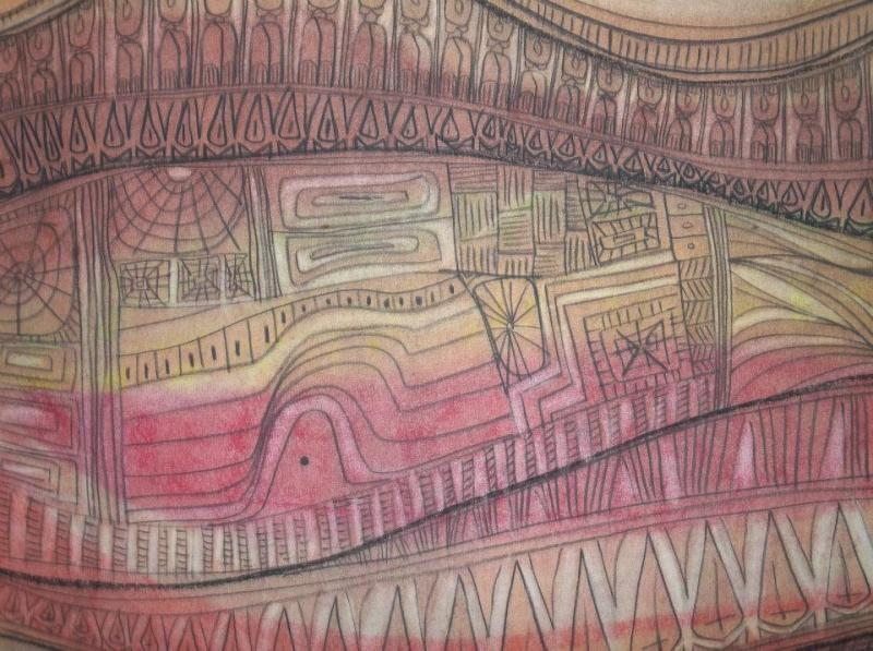 Detail. Ancestor Dance III. Pastel Painting. © 1976 Asungi Productions.