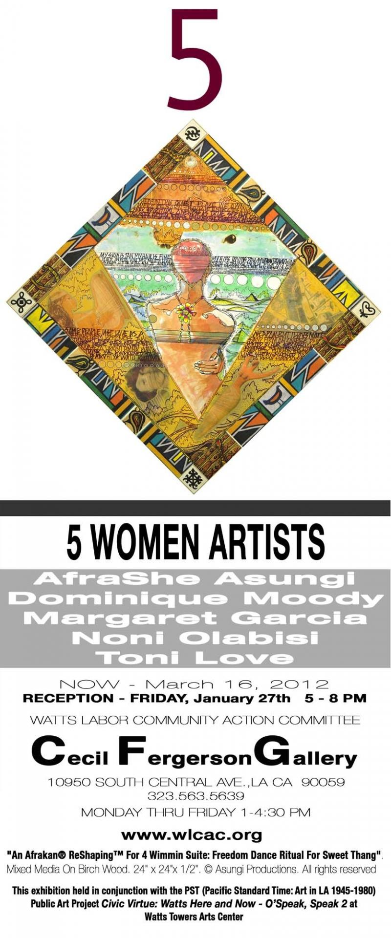 5 Women Artists@  F Gallery Announcement 12 /2011
